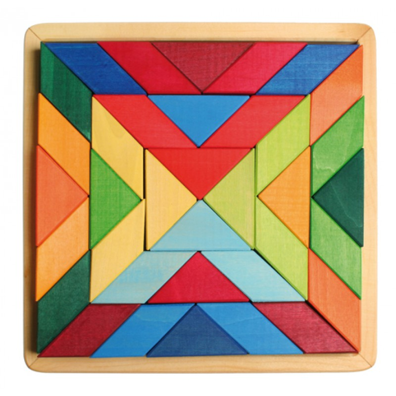 Grote houten puzzel Indian Square, Grimm's