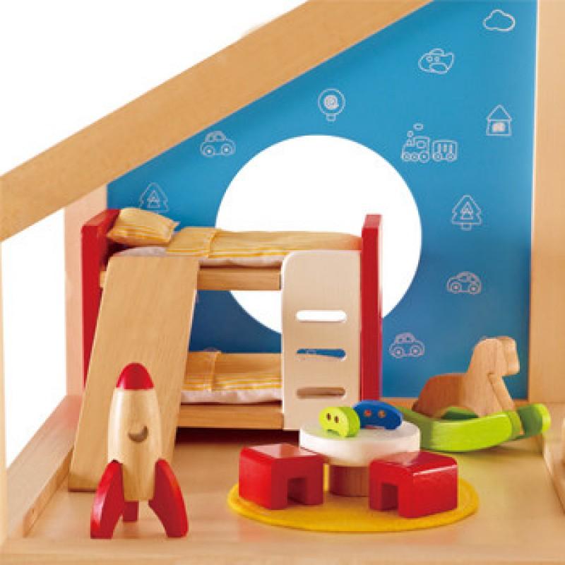 Kinderkamer poppenhuis, Hape
