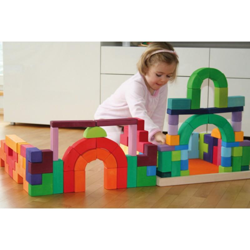 Gigantische houten blokkenpuzzel Romanesque, Grimm's