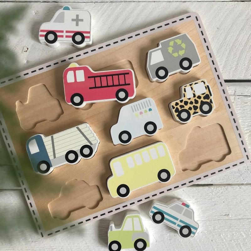 Chunky puzzel voertuigen, JaBaDaBaDo