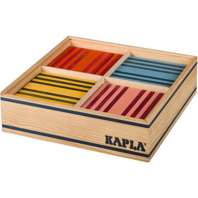 Kapla Octocolor, 100 plankjes in 8 kleuren