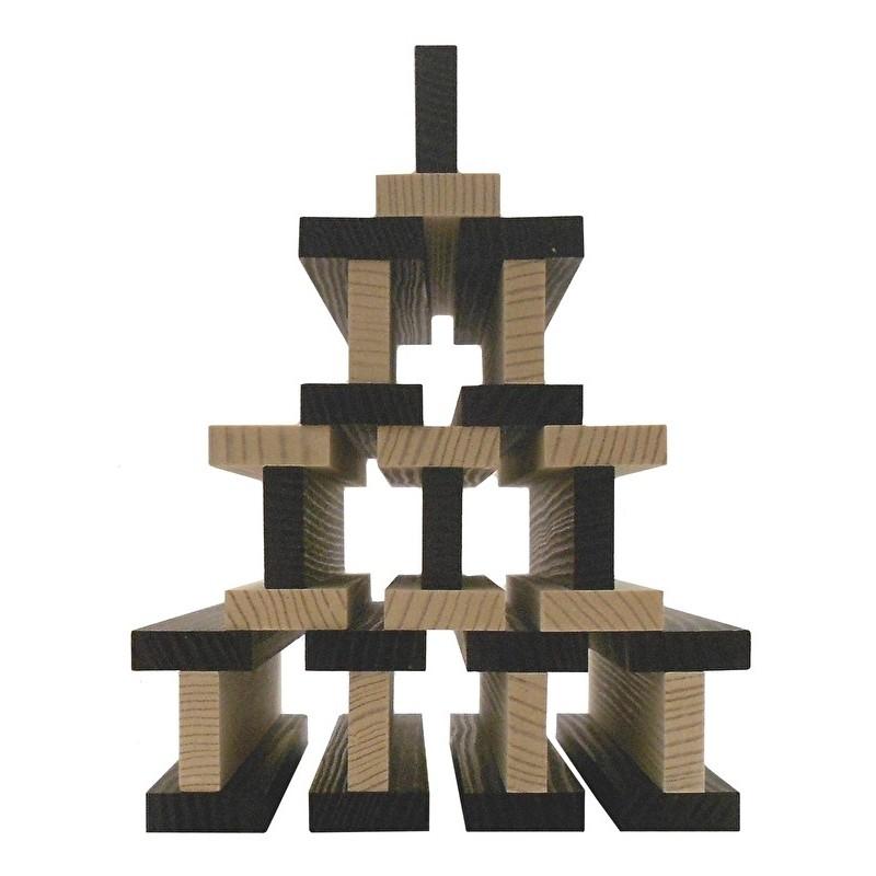 Kapla kist met 100 plankjes zwart-wit
