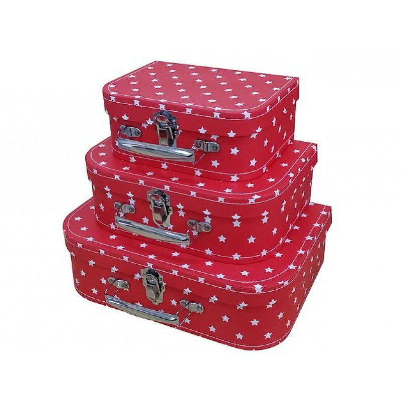 Koffertje Little Star Red, Cara Caro