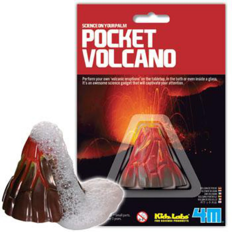 Mini vulkaan Science Card, 4M KidzLabs