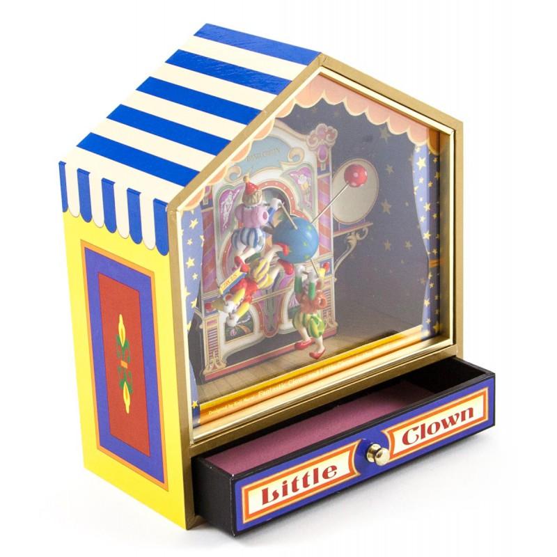 Muziekdoos Little Circus met draaiende clowntjes