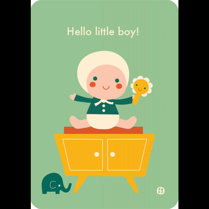 Ansichtkaart Hello little boy!, Bora