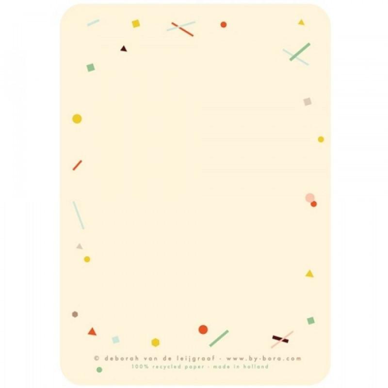 4 Luiaard, kaart & envelop, Bora