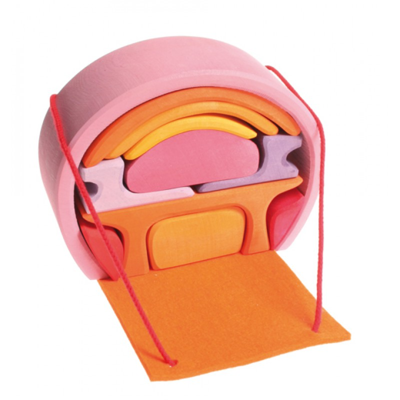 Poppenhuis Bauhaus roze-oranje, Grimm's