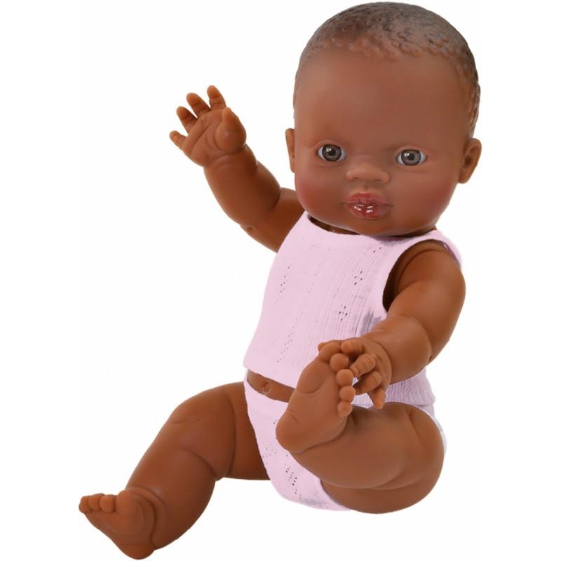 Babypop bruin meisje met ondergoed, Paola Reina
