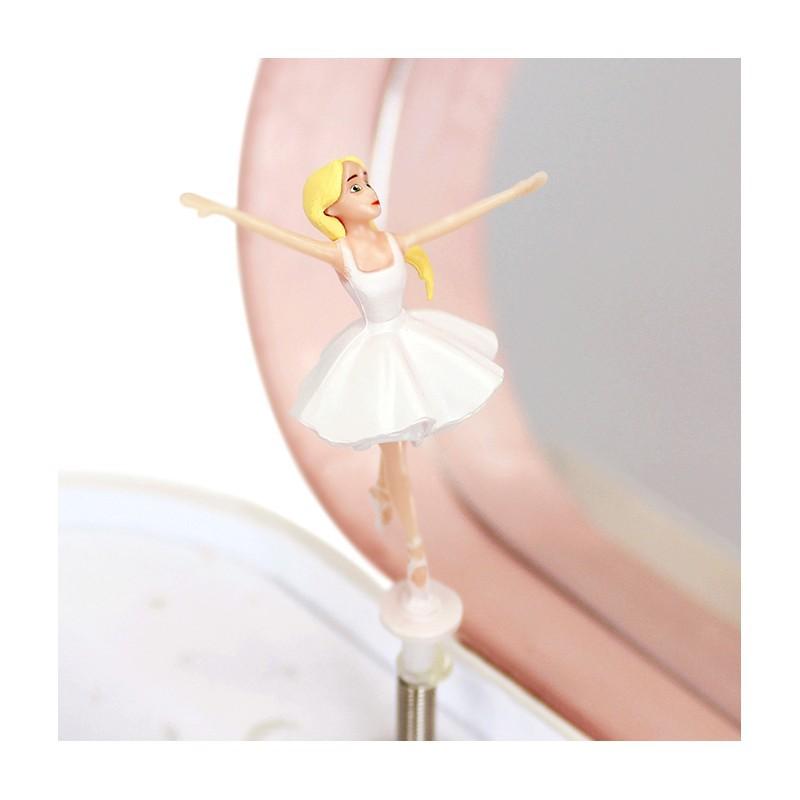 Hartvormige muziekdoos ballerina Glow-in-the-dark