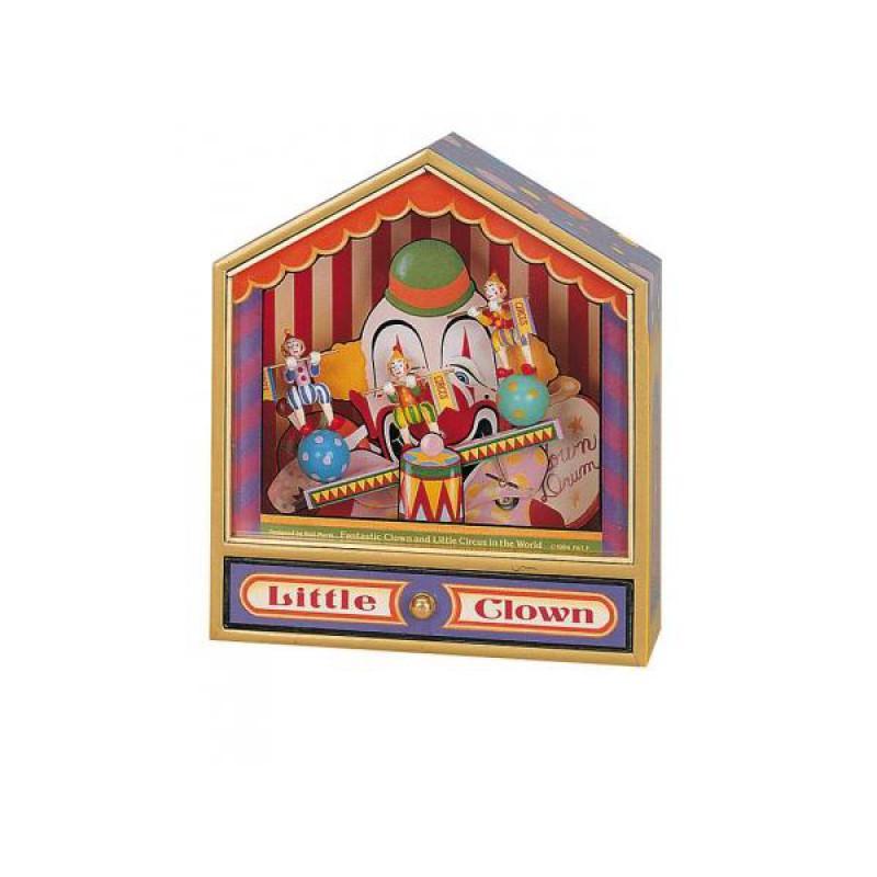 Muziekdoos Little Circus clowntjes op de wip