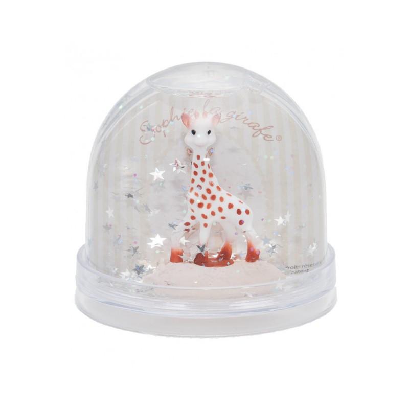 Glitter sneeuwbol Sophie de Giraf