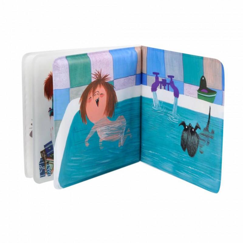 Floddertje in bad, badboekje