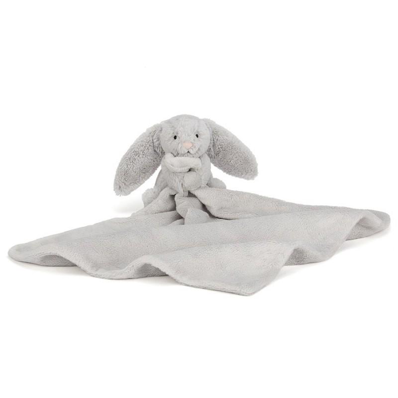 Knuffeldoekje konijn Silver, Jellycat