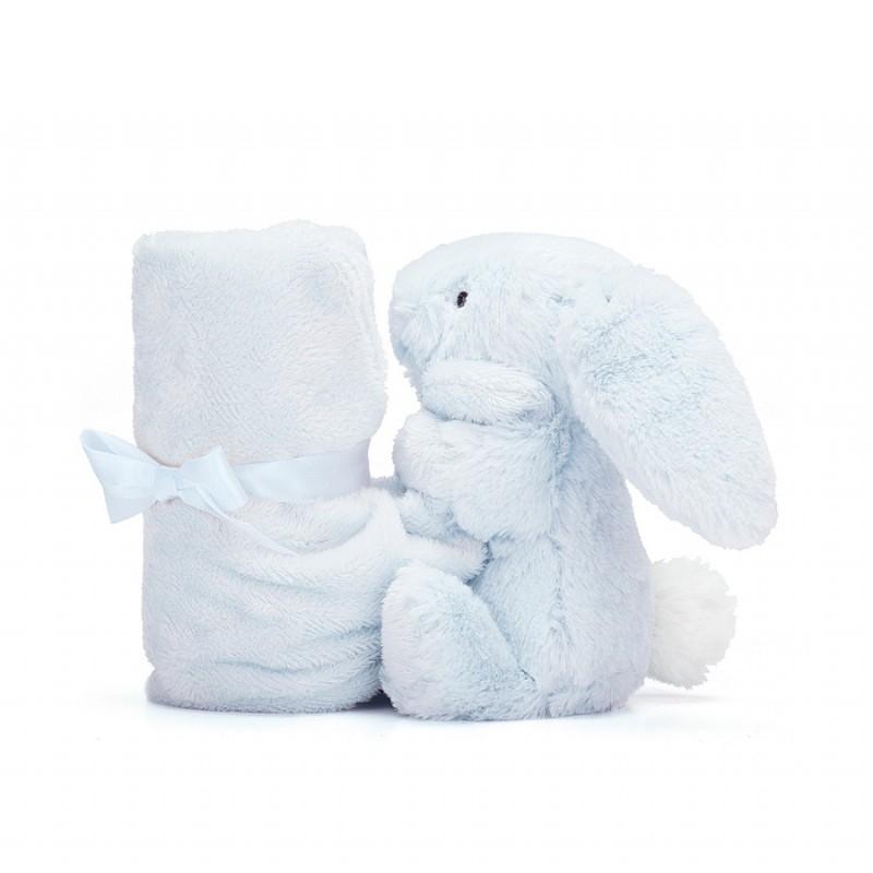 Knuffeldoekje blauw konijntje, Jellycat