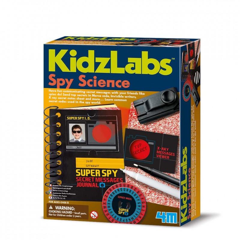 Spy Science geheime boodschappen, 4M KidzLabs