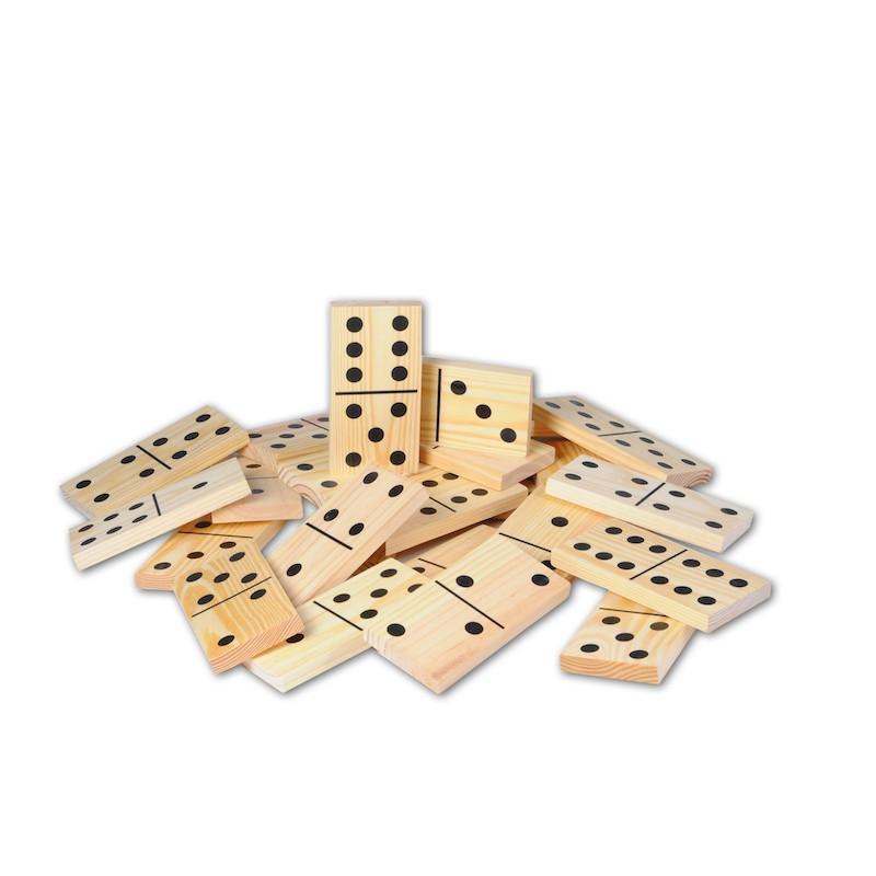 Houten jumbo domino