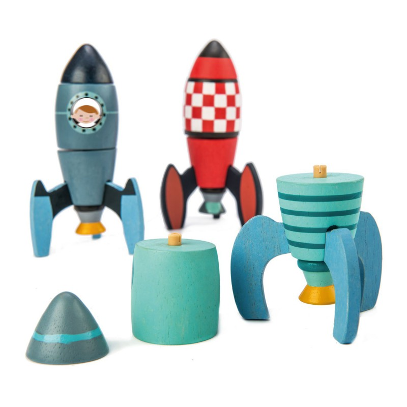 Rocket construction, Tender Leaf Toys
