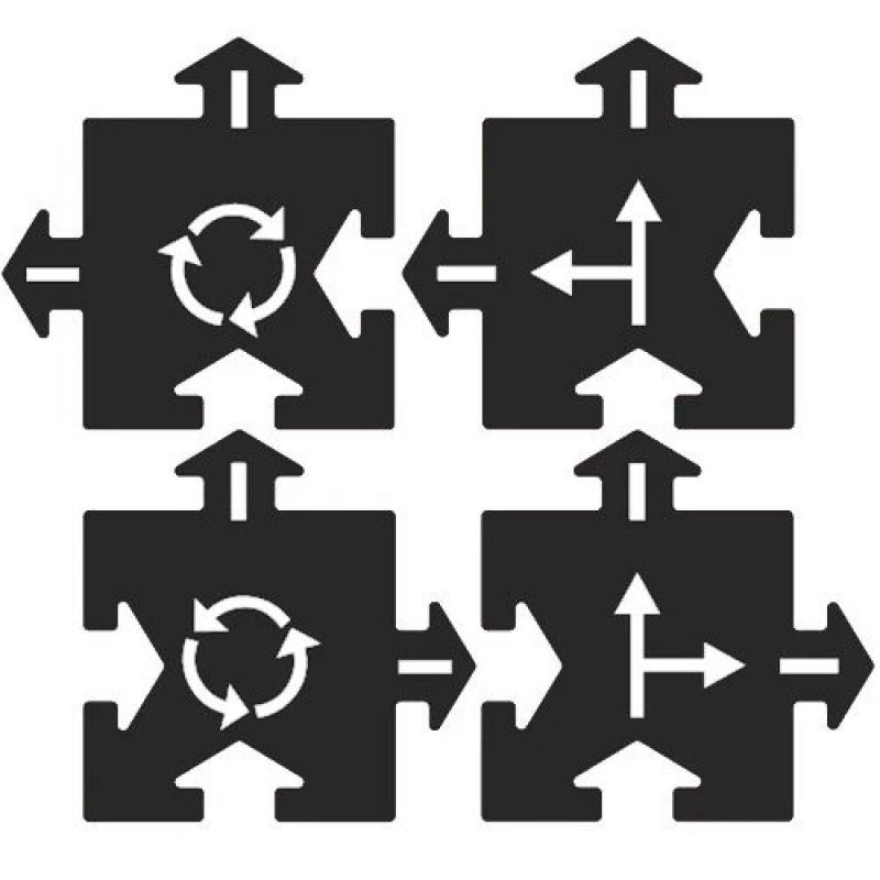 Uitbreidingsset kruising 4 st, Waytoplay