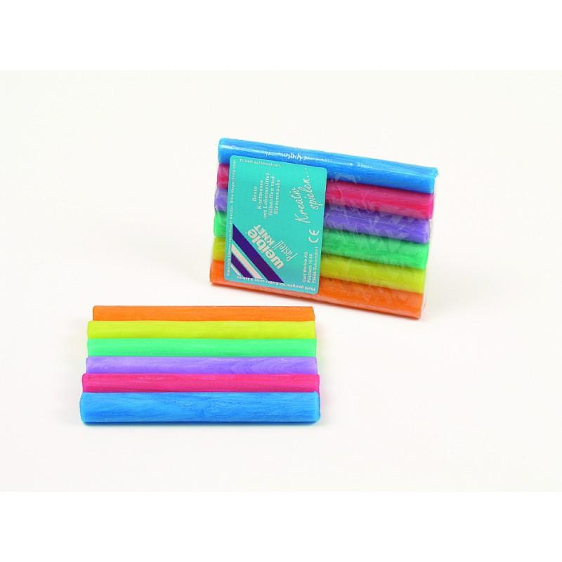 Fantasieklei 6 pastelkleuren, Weible
