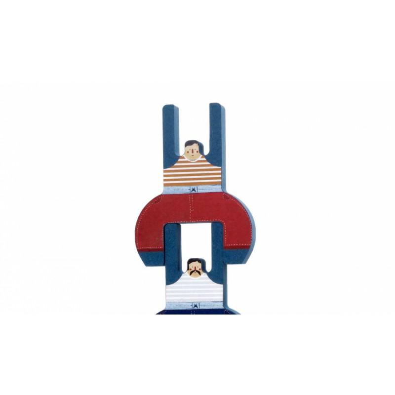 Acrobatenbroers balanceerspel, Londji