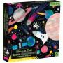 Glow puzzel Space 500 st, Mudpuppy