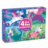 4 In a Box puzzelset Magical Friends, Mudpuppy