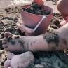 Zandvormpjes Old Rose, Scrunch
